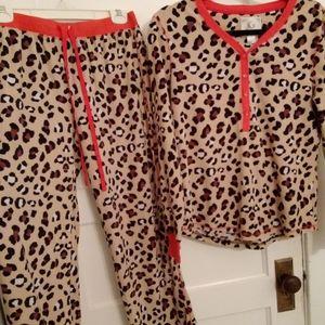 NWOT Plush Leopard PJ Couture PJ Set